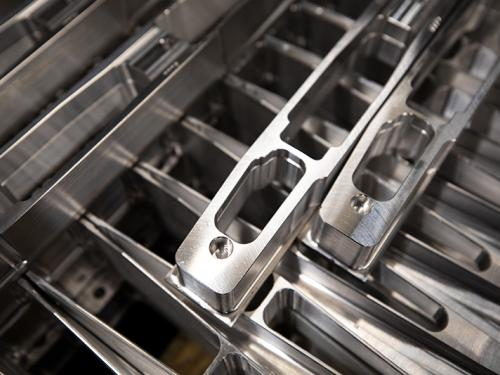 Close Up of machined precision parts